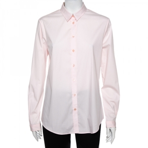 Burberry Brit Pink Cotton Button Front Shirt L - used
