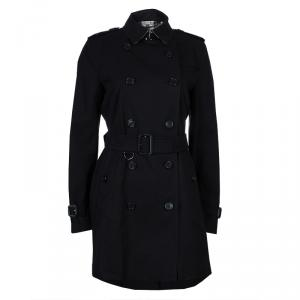 Burberry Black Kensington Trenchcoat M