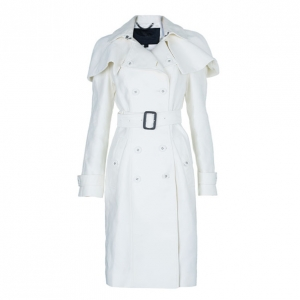 Burberry Prorsum White Capelet Trench Coat S