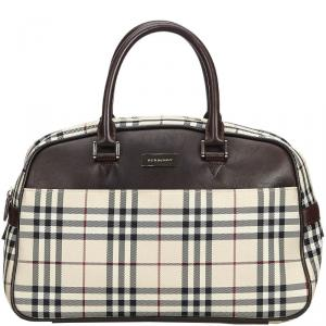 Burberry Brown Plaid Nylon Everyday Bag