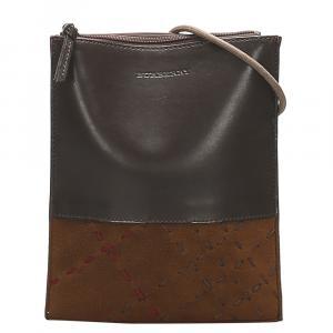 Burberry Brown Leather Crossbody Bag