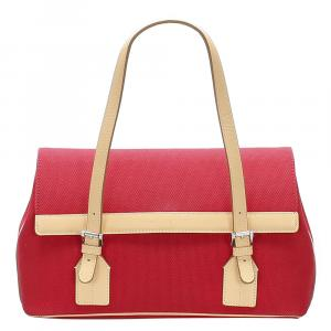 Burberry Red Canvas Shoulder Bag