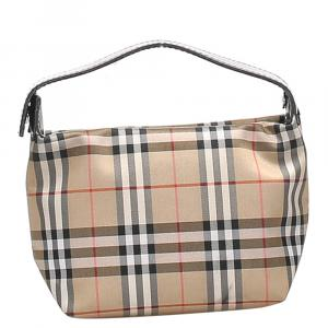 Burberry Tan/Multicolor House Check Coated Canvas Mini Bag