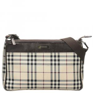 Burberry Beige Canvas   Shoulder Bags
