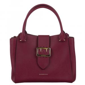 Burberry Fuchsia Leather Buckle Bag