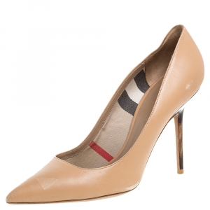Burberry Beige Leather Pumps Size 38