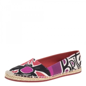 Burberry Multicolor Canvas Insects Of Britain Print Espadrille Flats Size 38.5 - used
