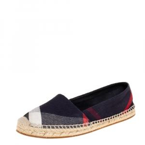 حذاء فلات إسبادريل بربري هودغيسون كانفاس مربعات أزرق مقاس 39