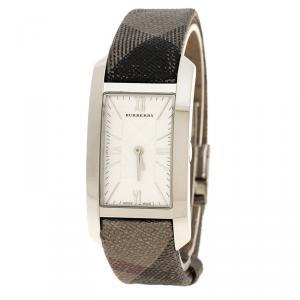 Burberry Silver White Stainless Steel Heritage BU1114 Women's Wristwatch 25 mm