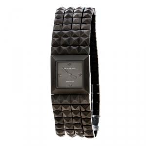 Burberry Black Gauntlet Pyramid Flex Bracelet Women's Wristwatch 20MM