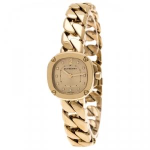 Burberry Gold Plated Diamond Bby1952 Women's Watch 24MM