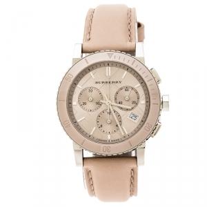 Burberry Beige Stainless Steel Classic BU9702 Women's Wristwatch 39 mm