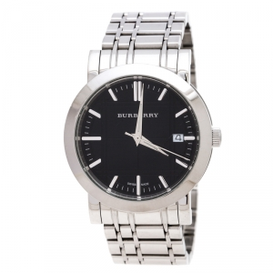 Burberry Black Stainless Steel Heritage BU1364 Men's Wristwatch 38 mm