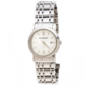 Burberry Silver Stainless Steel BU1351 Women's Wristwatch 28MM