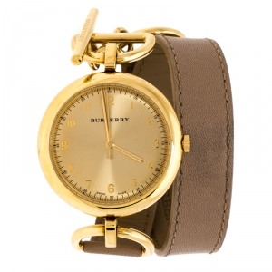 Burberry Gold Plated Stainless Steel Waterloo BU5308 Women's Wristwatch 39 mm