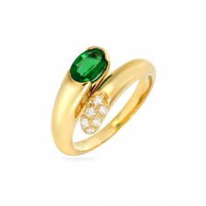 Bvlgari Emerald Gold Ring