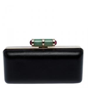 Bvlgari Black Leather Lipstick Case