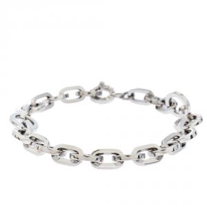 Bvlgari Logo Silver Link Bracelet
