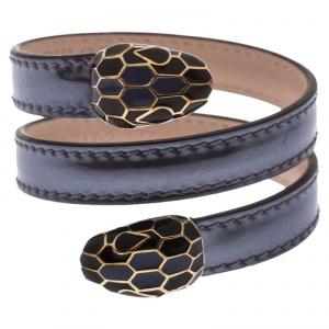 Bvlgari Serpenti Forever Purple Leather Wrap Bracelet