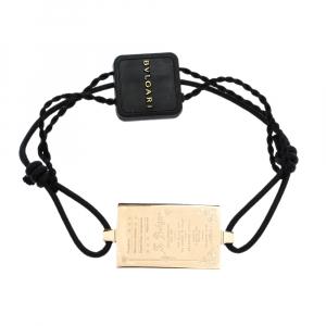 Bvlgari S.Bulgari Charm Black Cord Adjustable Bracelet