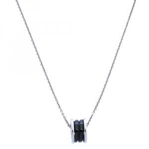 Bvlgari B.Zero1 Save The Children Black Ceramic & Sterling Silver Necklace