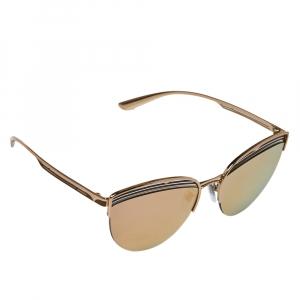 Bvlgari Rose Gold/ Grey Mirrored BV6118 B.Zero1 PureVibes Cat-Eye Sunglasses