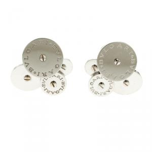 Bvlgari Cicladi Cluster 18k White Gold Clip-on Stud Earrings