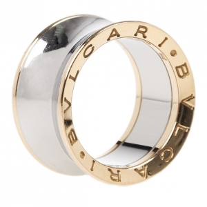 Bvlgari Anish Kapoor for Bvlgari B.Zero1 18K Rose Gold and Steel Women's Ring Size 56