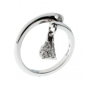 Bvlgari Divas' Dream Diamond 18k White Gold Ring Size 52.5