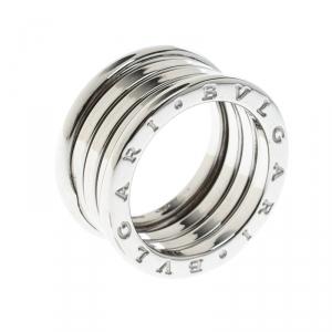 Bvlgari B.Zero1 4-Band 18k White Gold Ring Size 51