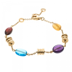 Bvlgari B.Zero1  Multicolored Gemstones Yellow Gold Bracelet