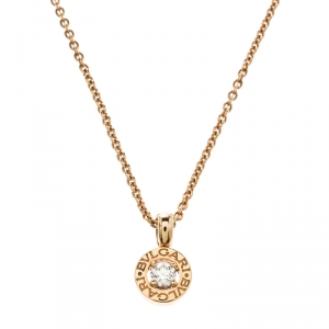 Bvlgari Bvlgari Diamond Yellow Gold Pendant Necklace
