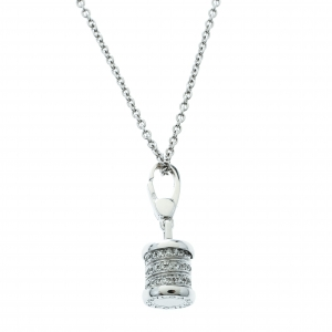 Bvlgari B.Zero1 Diamond 18k White Gold Charm Chain Necklace