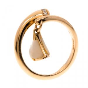Bvlgari Divas' Dream Mother of Pearl Rose Gold Ring Size 50