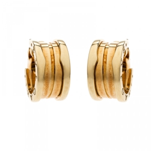 Bvlgari B.Zero1 18K Yellow Gold Hoop Earrings