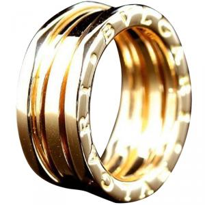Bvlgari B.Zero1 3-Band 18K Yellow Gold Ring Size 51