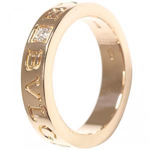 Bvlgari Bvlgari Diamond 18K Rose Gold Ring Size 48