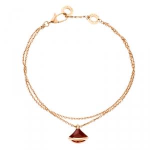 Bvlgari Divas's Dream Carnelian 18k Rose Gold Charm Bracelet