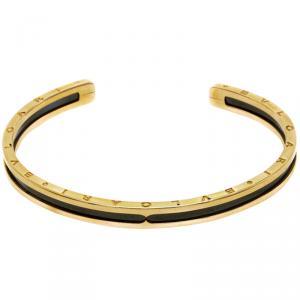 Bvlgari 18K Rose Gold B Zero Cuff & Black Coated Steel Bracelet