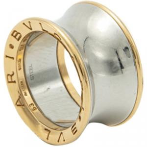 Bvlgari 18K Rose Gold & Steel B.Zero1 Anish Kapoor Ring Size 53