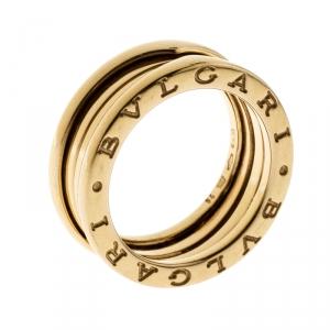 Bvlgari B.Zero1 3-Band 18k Yellow Gold Band Ring Size 54