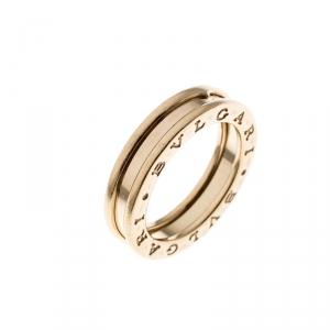 Bvlgari B.Zero1 1-Band 18K Yellow Gold Ring Size 52