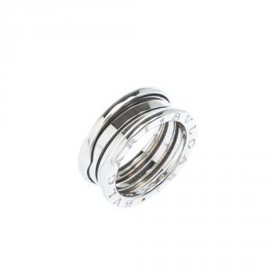 Bvlgari B.Zero1 3-Band 18k White Gold Ring Size 50