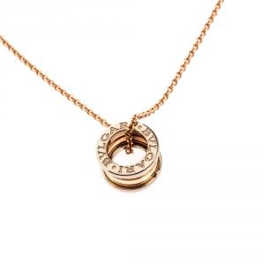 Bvlgari B.Zero1 18k Two Tone Gold Pendant Necklace
