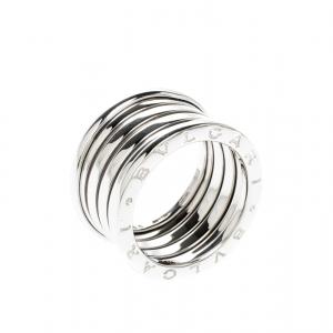 Bvlgari B.Zero1 18k White Gold  5-Band Ring Size 55