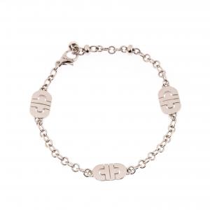 Bvlgari Parentesi 18k White Gold Chain Link Station Bracelet