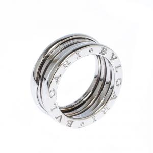 Bvlgari B.Zero1 3-Band 18k White Gold Ring Size 52