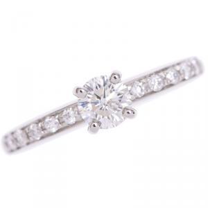 Bvlgari Glyph Solitaire Diamond Platinum Ring 48