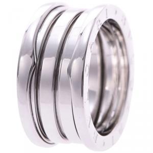 Bvlgari B.Zero1 4-Band 18k White Gold Band Ring Size 54