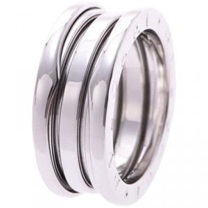 Bvlgari B.Zero1 3-Band 18k White Gold Band Ring Size 51